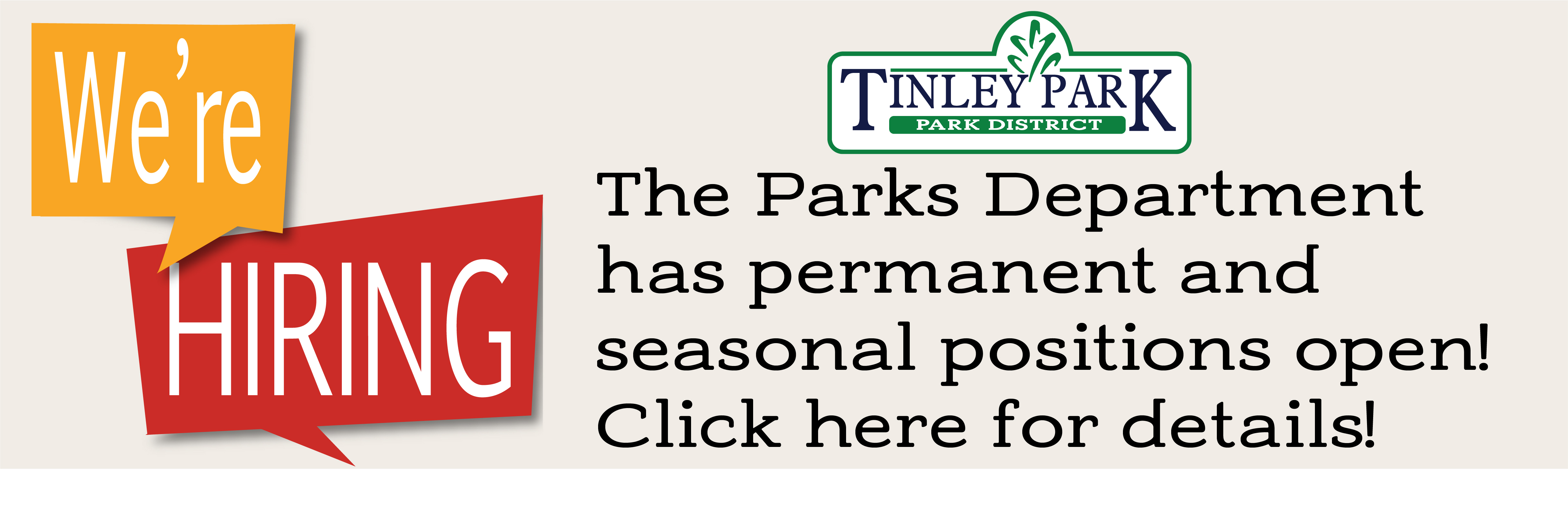 Parks Dept hiring